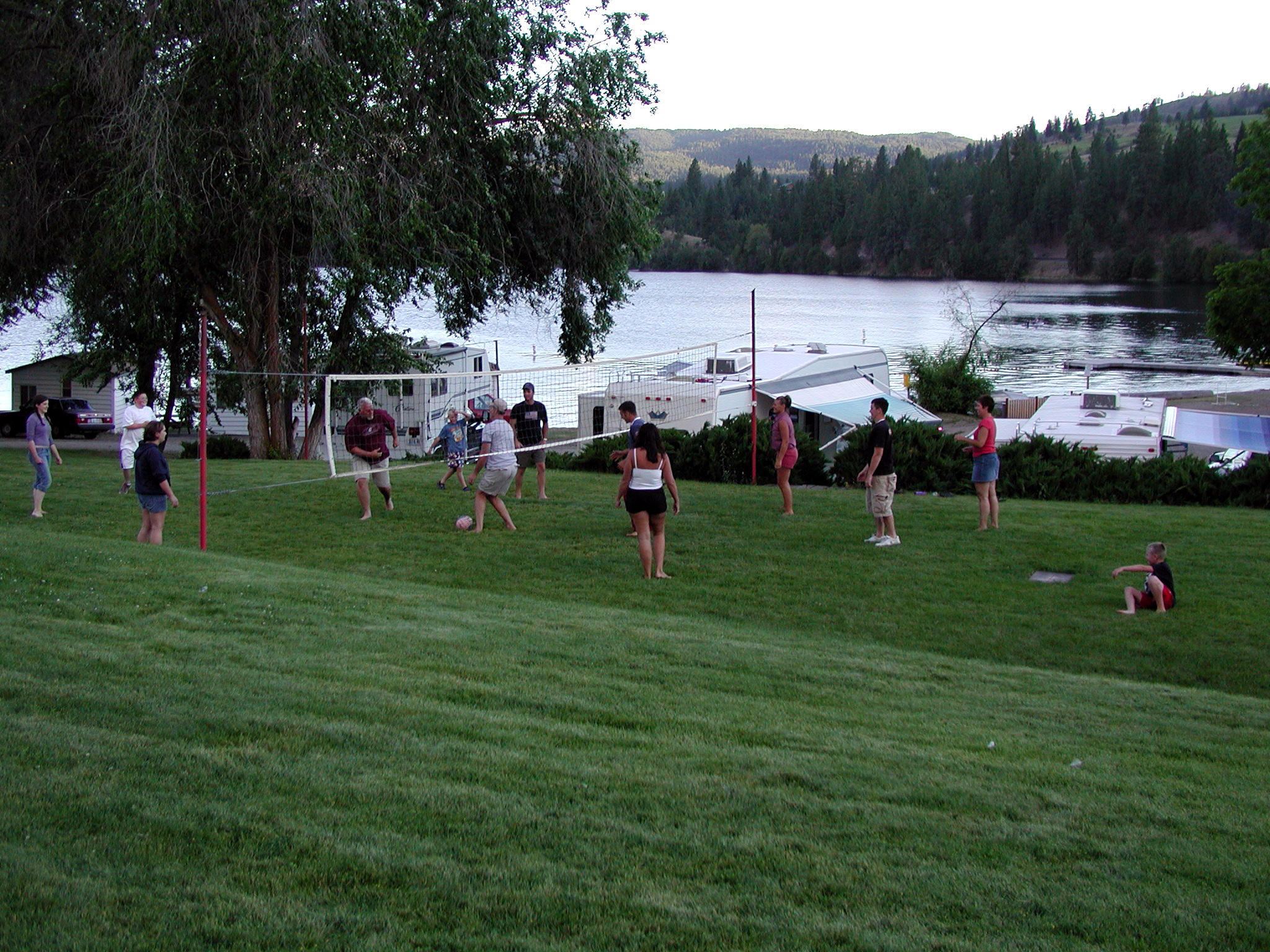 Volleyball at Tiffanys Resort Curlew Lake