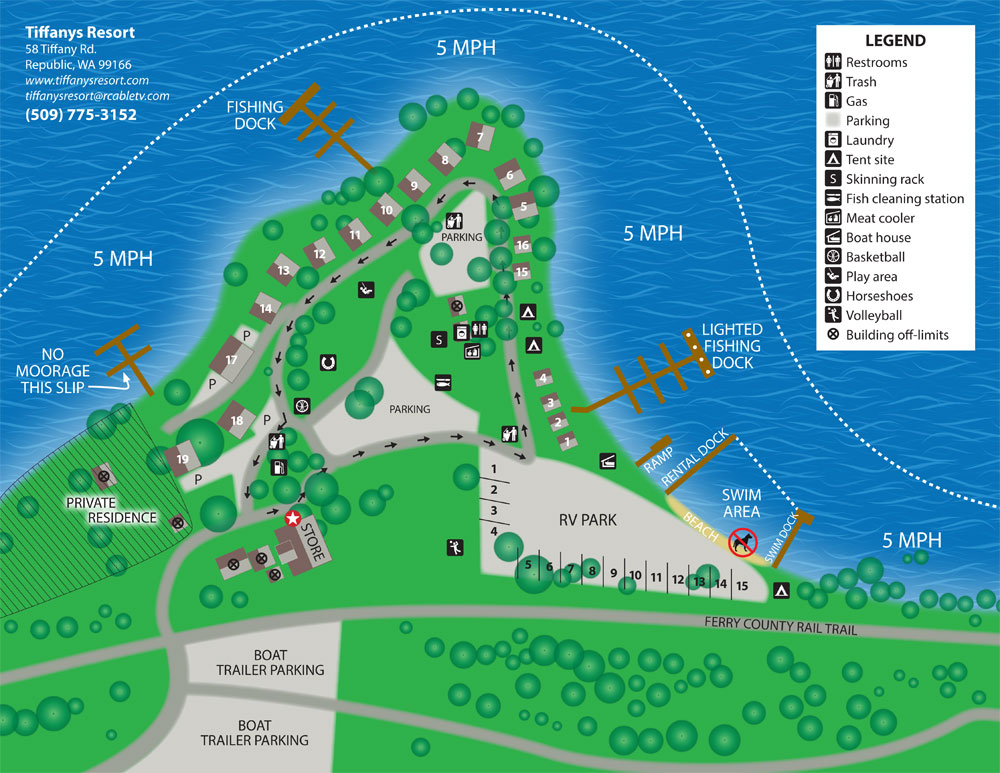 Tiffanys Resort Map 2017