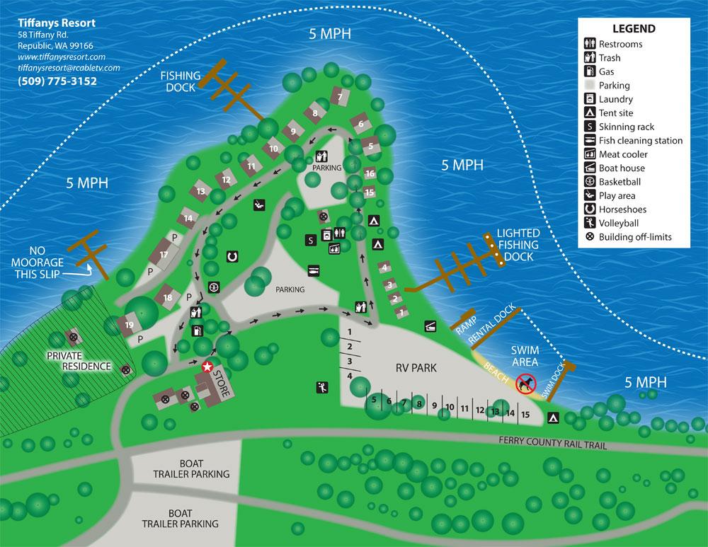 Tiffanys Resort Map 2017